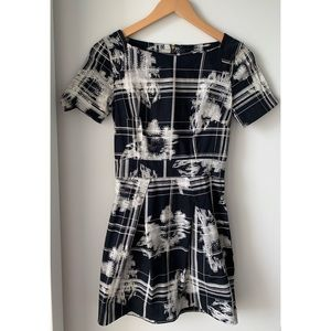 French Connection Black & White Wilderness Dress